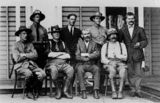 Picture relating to Charleville - titled 'Portrait of the aerial survey party at Charleville'