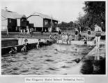 Picture of / about 'Kingaroy' Queensland - Schoolchildren frolicking in the pool at Kingaroy State School