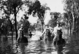 Picture relating to Goovigen - titled 'Rescuing stock during the 1928 flooding in Goovigen, Queensland'