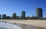 Picture relating to Coolangatta - titled 'Buildings along Marine Parade, Coolangatta from the surf'
