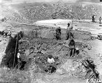 Picture relating to Weston Creek - titled 'Workers excavating Weston Creek sewerage treatment works'