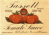 Picture of / about 'Brisbane' Queensland - Tassell Tomato Sauce label