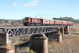 Picture relating to Burbong - titled 'Burbong Bridge - Tourist train to Bungendore'