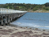 Picture relating to Victor Harbor - titled 'Granite Island Causeway, Victor Harbor'