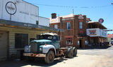 Picture relating to Emmaville - titled 'Tattersalls Hotel and old Mack truck, Emmaville'