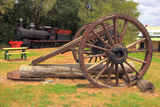 Picture relating to Pemberton - titled 'Historic display, Pemberton WA'