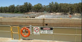 Picture relating to Wentworth - titled 'Lock 10 and weir Murray River Wentworth'