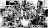 Picture relating to Stanthorpe - titled 'Nurses and soldiers at the Military Hospital, Stanthorpe'