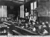 Picture relating to Mount Beppo - titled 'School teaching, Mount Beppo, Queensland, 1910'