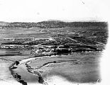 Picture relating to Canberra - titled 'Aerial view of Hotel Canberra from the east'