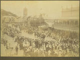 Picture relating to Townsville - titled 'Procession down Flinders Street, Townsville, ca. 1900'
