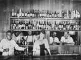 Picture relating to Quilpie - titled 'Drinking at the bar of the Quilpie Hotel, ca. 1921'