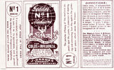 Picture of / about 'Brisbane' Queensland - Geddes cold medicine label