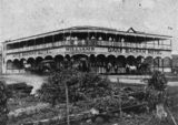 Picture relating to Lake Eacham - titled 'Williams' Lake Eacham Hotel, 1912'