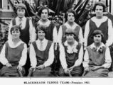 Picture relating to Charters Towers - titled 'Girls' tennis team from Blackheath College, Charters Towers, Queensland, 1927'
