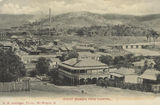 Picture relating to Mount Morgan - titled 'Mount Morgan from the hospital, featuring the Royal Hotel, ca. 1905'