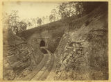 Picture relating to Toowoomba - titled 'Railway tunnel cutting through the hill in the Main Range area'