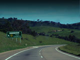 Picture relating to Barton Highway - titled 'Barton Highway turnoff on the Hume Highway'
