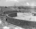 Picture relating to Weston Creek - titled 'Weston Creek sewerage treatment works trickle filter beds, under construction.'