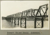 Picture relating to Bundaberg - titled 'Burnett Railway Bridge spanning the Burnett River at Bundaberg. 1924'