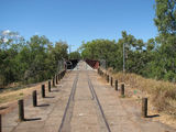 Picture relating to Katherine River - titled 'Old Railway Bridge over Katherine River'