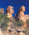 Picture relating to Chichester Range - titled 'Twin Sphinxes near Cape Crawford, NT'