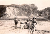 Picture relating to Gold Coast - titled 'Gold Coast Currumbin beach kids playing - early 1930's'