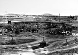 Picture relating to Weston Creek - titled 'Weston Creek Sewerage treatment works, excavation for the ponds and tanks.'