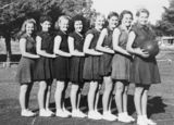 Picture relating to Toowoomba - titled 'B Grade netball team from the Toowoomba Technical College, 1950'