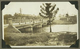 Picture relating to Nambour - titled 'Two bridges spanning Petrie Creek, Nambour, ca. 1930'
