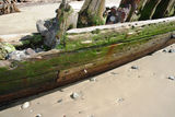 "Picture relating to Buster - titled 'Shipwreck ""Buster"" on Woolgoolga Beach'"