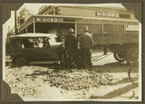 Picture relating to Bundaberg - titled 'Large convertible touring car bogged in the Bundaberg street, 1929'