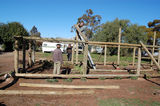 Rainbow Yurunga Shade House reconstruction 2 Construction begins. The frame stage