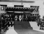 Picture relating to Parliament House - titled 'Opening of Parliament, Duke and Duchess of York on steps of Old Parliament House, 9 May 1927.'