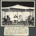 Picture relating to Camooweal - titled 'Marquee as part of the mobile dental clinic's camping set-up, Camooweal, 1932'