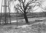 Picture relating to Molonglo River - titled 'Driving piles for Lennox Crossing low level bridge over the Molonglo River'