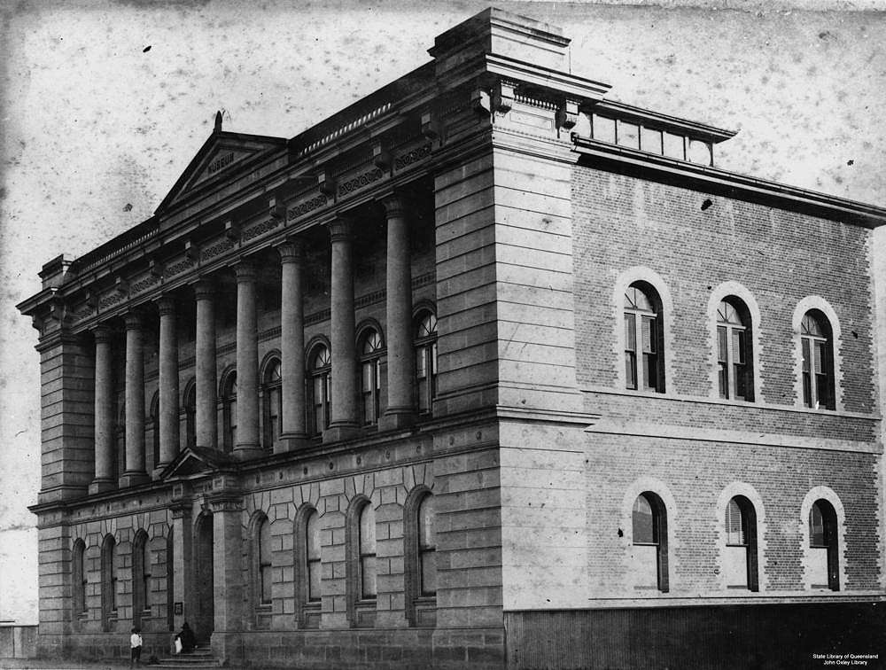 Picture of / about 'Brisbane' Queensland - Old Queensland Museum, William Street, Brisbane, Queensland, ca. 1885