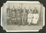 Picture relating to Ayr - titled 'Group of men and women in the Ayr community for the Julilee, June 1937'