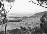 Picture relating to Acton - titled 'View from Mt Ainslie over Reid area showing Civic Centre under construction and Acton area'