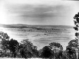 Picture relating to Brindabella - titled 'Oxley Hill, Ttuggeranong Valley, Brindabellas on the horizon.'