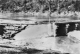 Picture relating to Mount Crosby - titled 'Flood damage to the weir at Mount Crosby, Queensland, 1927'