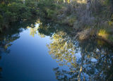 Picture relating to Hidden Valley - titled 'Running River pool before sunset.'