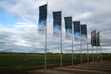 Picture relating to Werribee - titled 'Derrimut Road flags'