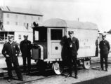 Picture relating to Roma - titled 'Rail ambulance at Roma, ca. 1921'