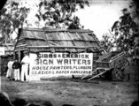 Picture relating to Stanthorpe - titled 'Gibbs and Emerick, signwriters, household painters, plumbers, glaziers and paper hangers, Maryland Street Stanthorpe, 1872'