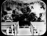 Picture relating to Emerald - titled 'Decorated interior of the Primitive Methodist Church at Emerald photographed about 1905'