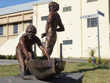 Picture relating to Gundagai - titled 'Yarri and Jacky Jacky sculpture'