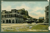 Picture relating to Townsville - titled 'Ambulance building at Townsville close to a rocky outcrop, ca. 1908'