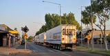 Picture relating to Katherine - titled 'Katherine Roadtrain Main Street'