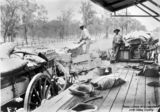 Picture of / about 'Duaringa' Queensland - Loading supplies onto a wagon at the Duaringa Railway Station, Queensland, ca.1902
